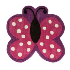 Flair Rugs - Tapis forme papillon - Fille