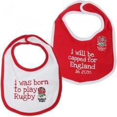 England R.F.U. Baby Lätzchen mit offiziellem Rugby Logo (2er Packung)