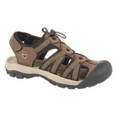 PDQ Herren Sport-Sandale mit Klettverschluss und elastischer Schnürung, extrem leicht