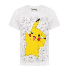 Pokemon Kinder/Jungen Pikachu Wave T-Shirt