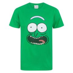 Rick And Morty Herren Pickle Rick Gesicht T-Shirt