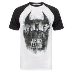 Justice League Herren Charakter Line Up Raglan T-Shirt