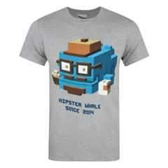 Crossy Road offizielles Herren Hipster Whale T-Shirt