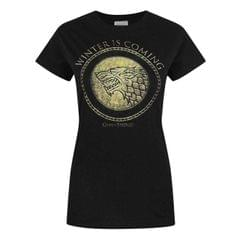Game Of Thrones Damen Gold Schild T-Shirt