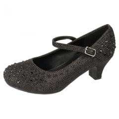 Spot On Mädchen Diamanten Glitter Schuhe mit Absatz