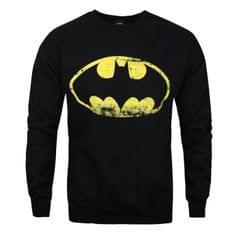 Herren Sweatshirt mit Batman-Logo im Used-Look