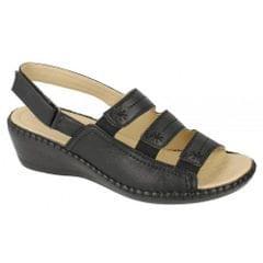 Eaze Damen Sandalen mit komfortablem Keilabsatz