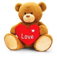 Keel Toys Valentins Henry Bär mit Herz