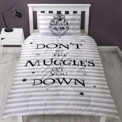 Harry Potter Dont Let The Muggles Get You Down Wende-Bettwäsche-Set