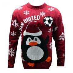 West Ham United FC Novelty Weihnachtspullover
