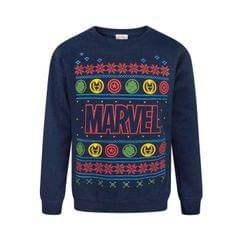 Marvel Kinder/Jungen Logo Weihnachtspullover