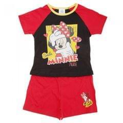 Mädchen Schlafanzug / Pyjama mit Disney Minnie-Maus-Motiv, kurzärmlig, Shorts