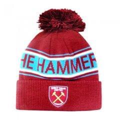 West Ham FC Hammers Winter Strickmütze mit Wappen