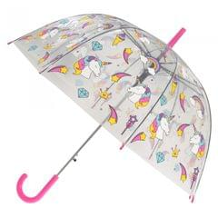 X-brella Damen Automatik-Regenschirm mit Einhorn-Muster