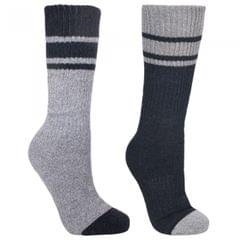 Trespass Mens Hitched Two Tone Anti Blister Hiking Boot Socks (2 Pack)