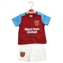West Ham United FC Official Baby Soccer Crest T-Shirt & Shorts Set