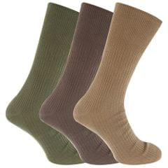 Mens Big Foot Non Elastic Diabetic Socks (3 Pairs)