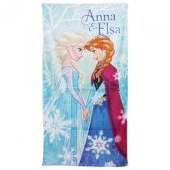 Disney Frozen Childrens Girls Anna & Elsa Printed Beach Towel