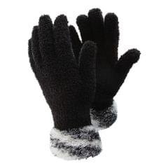 FLOSO Ladies/Womens Fluffy Extra Soft Winter Gloves with Patterned Cuff