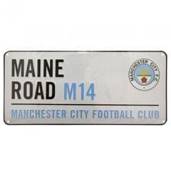 Manchester City FC Official Retro Maine Road Metal Stadium Street Sign