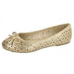 Spot On Womens/Ladies Slip On Summer Ballerina Shoes