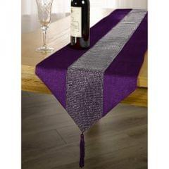 Colored Table Runner With Diamante Strip And Tassels