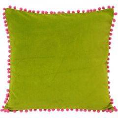 Riva Home Velvet Pompom Cushion Cover