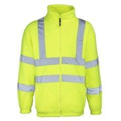 RTY High Visibility Mens High Vis Full Zip Fleece Jacket