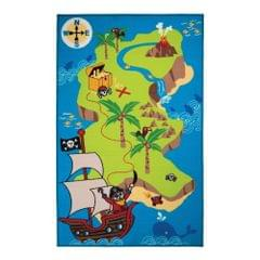 Flair Rugs Childrens/Kids Pirate Map Bedroom Rug