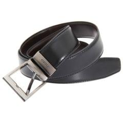 FLOSO Mens Reversible Leather Belt