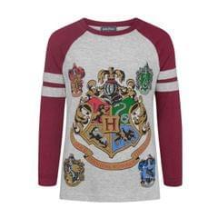 Harry Potter Official Girls Hogwarts Raglan T-Shirt