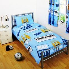 Manchester City FC Childrens/Kids Official Patch Football Crest Duvet Set