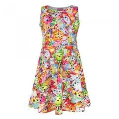 Shopkins Childrens/Girls Official All-Over Character Printed Skater Dress
