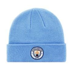 Manchester City FC Adults Official Knitted Winter Football/Soccer Crest Hat