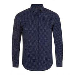 SOLS Mens Becker Polka Dot Long Sleeve Poplin Shirt