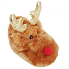 Kids/Childrens Novelty Reindeer Slippers