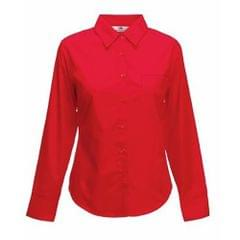 Fruit Of The Loom Ladies Lady-Fit Long Sleeve Poplin Shirt