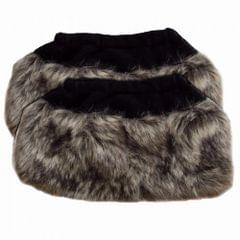 Womens/Ladies Faux Fur Boot Toppers (1 Pair)