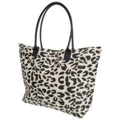 FLOSO Womens/Ladies Animal Print Woven Summer Handbag