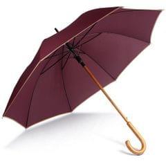Kimood Unisex Automatic Open Wooden Handle Walking Umbrella