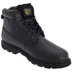 Grafters Mens 6 Eye Padded Leather Work Boots