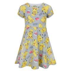 Pokemon Childrens Girls Pikachu Short Sleeved Dress