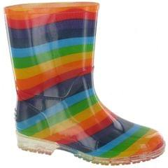 Cotswold PVC Kids Rainbow Welly/Little Girls Boots