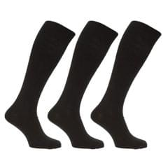 Mens Long Length Ribbed Lambswool Blend Socks (Pack Of 3)