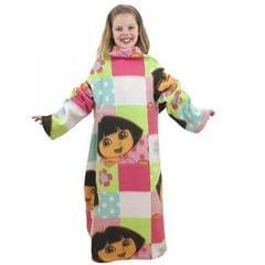Dora The Explorer Childrens Girls Buttons Sleeved Fleece Blanket