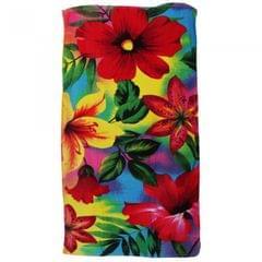 Floral Design Velour Beach Towel