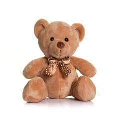 Mumbles Velvet Bear With Ribbon