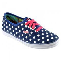 Skechers SK85494 Canvas Spotty Big Girls Shoes