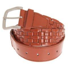 Grace Womens/Ladies Weave Pattern Leather Belt