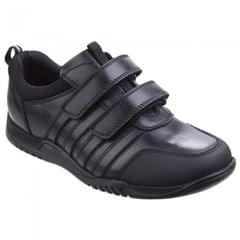 Hush Puppies Childrens/Boys Josh Snr Touch Fastening Leather Shoes